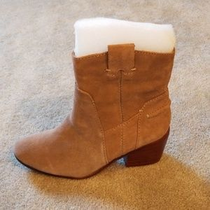 Vince camuto taupe suede maves boots